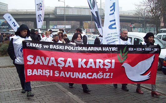AKP'NİN SAVAŞ VE BASKI POLİTİKALARINA KARI GREV