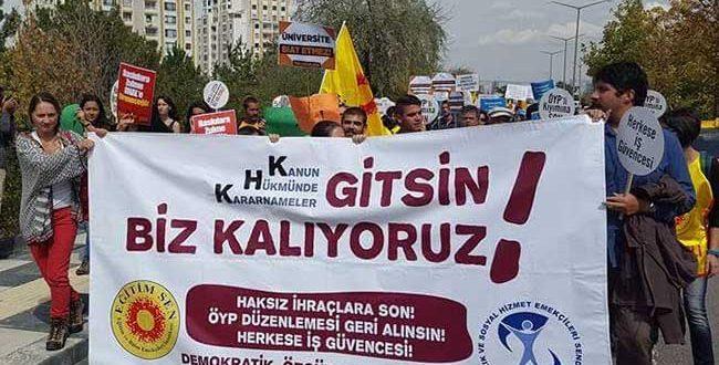 """SES – EĞİTİMSEN : """"KHK ' LER GİTSİN BİZ KALIYORUZ !"""""""