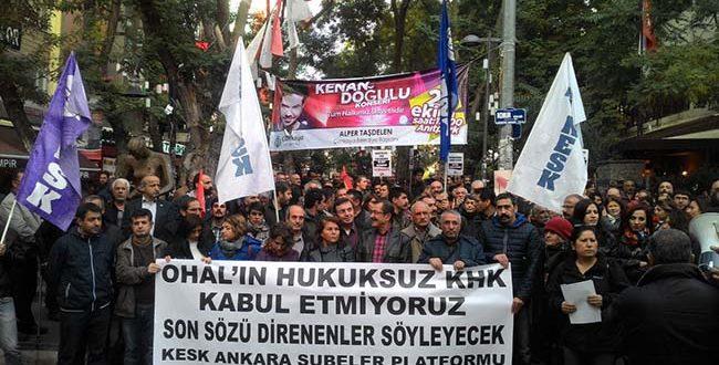 OHAL'İ DE KHK' LERİNİZİ DE TANIMIYORUZ