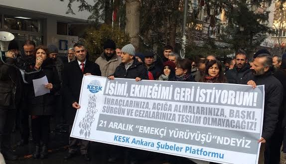 21 ARALIK EMEKÇİ YÜRÜYÜŞÜ BAŞLADI !