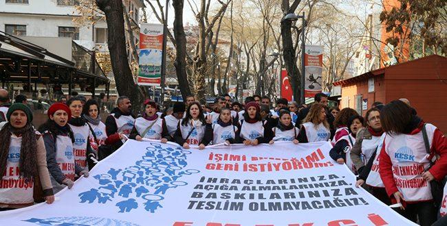 EMEKÇİ YÜRÜYÜŞÜ ANKARA'DA SONLANDI !