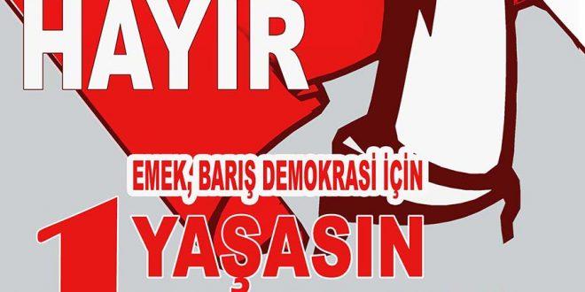 EMEK, BARIŞ DEMOKRASİ İÇİN HAYDİ 1 MAYIS'A