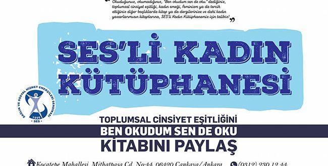 """SES'Lİ KADINLARIN """"KADIN KÜTÜPHANESİ"""""""