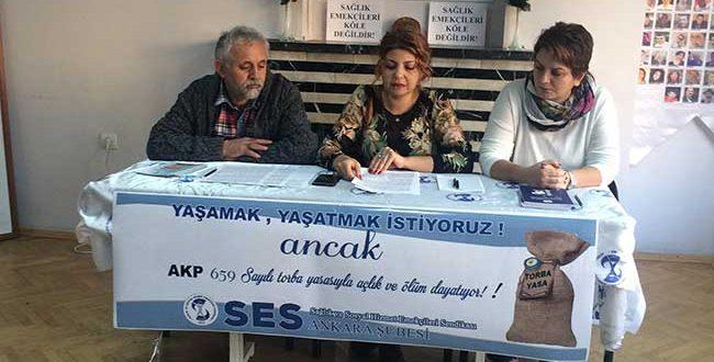 AKP 659 SAYILI TORBA YASASIYLA AÇLIK VE ÖLÜM DAYATIYOR!