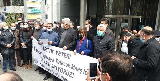 """KESK ANKARA ŞUBELER PLATFORMU """"EK ZAM"""" TALEBİYLE ALANDAYDI !"""
