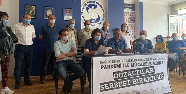 """SAĞLIK ÖRGÜTLERİ:""""SAĞLIK EMEK VE MESLEK ÖRGÜTLERİ İLE DEĞİL PANDEMİ İLE MÜCADELE EDİN !"""""""